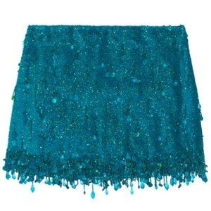 Ashish Turquoise Sequined Silk Georgette Skirt